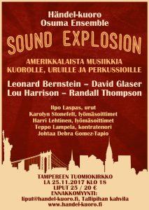 sound explosion flyer